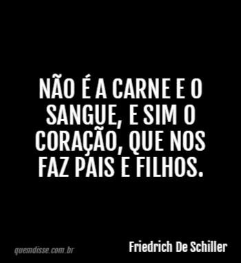 Friedrich De Schiller Não é A Carne E O Sangue E Sim O Coração